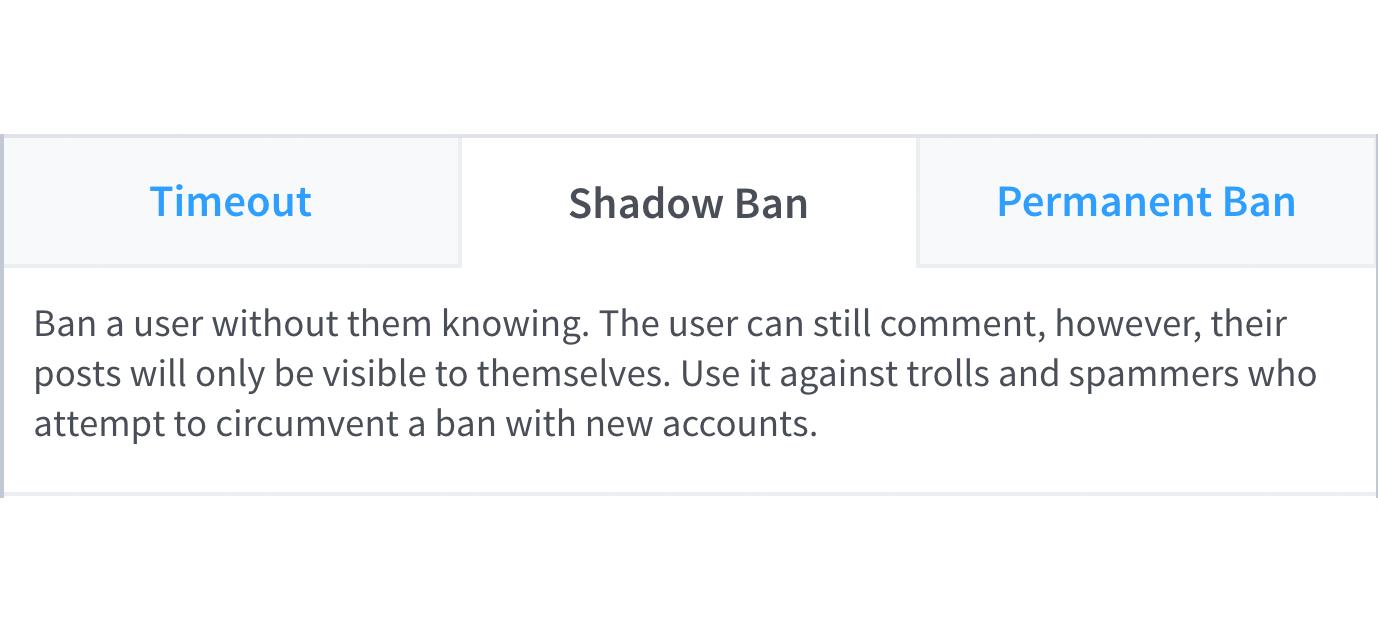 shadow ban